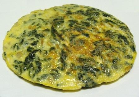 Tortilla de algas y calabacín