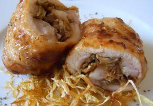 Rollitos de pollo rellenos de champiñones (2)