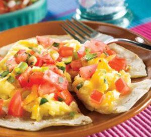 Tortitas de huevos rancheros